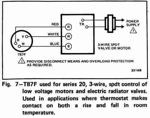 small resolution of 3 wire spdt honeywell t87f thermostat wiring diagram