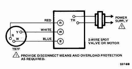 hvac wiring diagram thermostat 6 pin power window switch room diagrams for systems 3 wire spdt honeywell t87f
