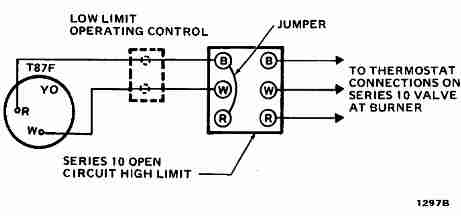 3 wire thermostat wiring diagram wein bridge oscillator circuit room diagrams for hvac systems high limit honeywell t87f