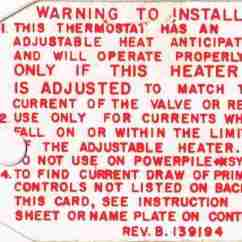 Trane Heat Pump Thermostat Wiring Diagram 2007 F150 5 4 Anticipator Settings On Room Thermostats How Why To Adjust Honeywell Heaet Setting Warning