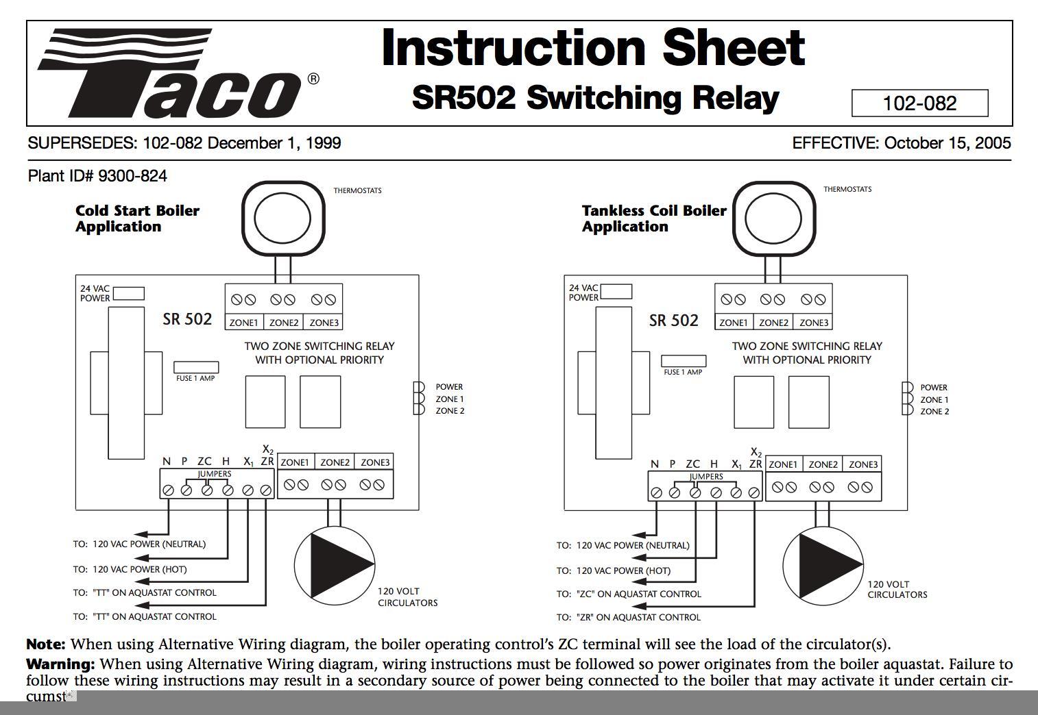 Taco SR502 Zone Relay Wiring?w\\\\\\\=2000 taco 00 circulator wiring schematic diagram