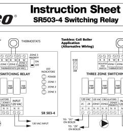 zone valve wiring installation instructions guide to heating honeywell switching relay wiring diagram taco sr502 switching relay wiring [ 1508 x 900 Pixel ]