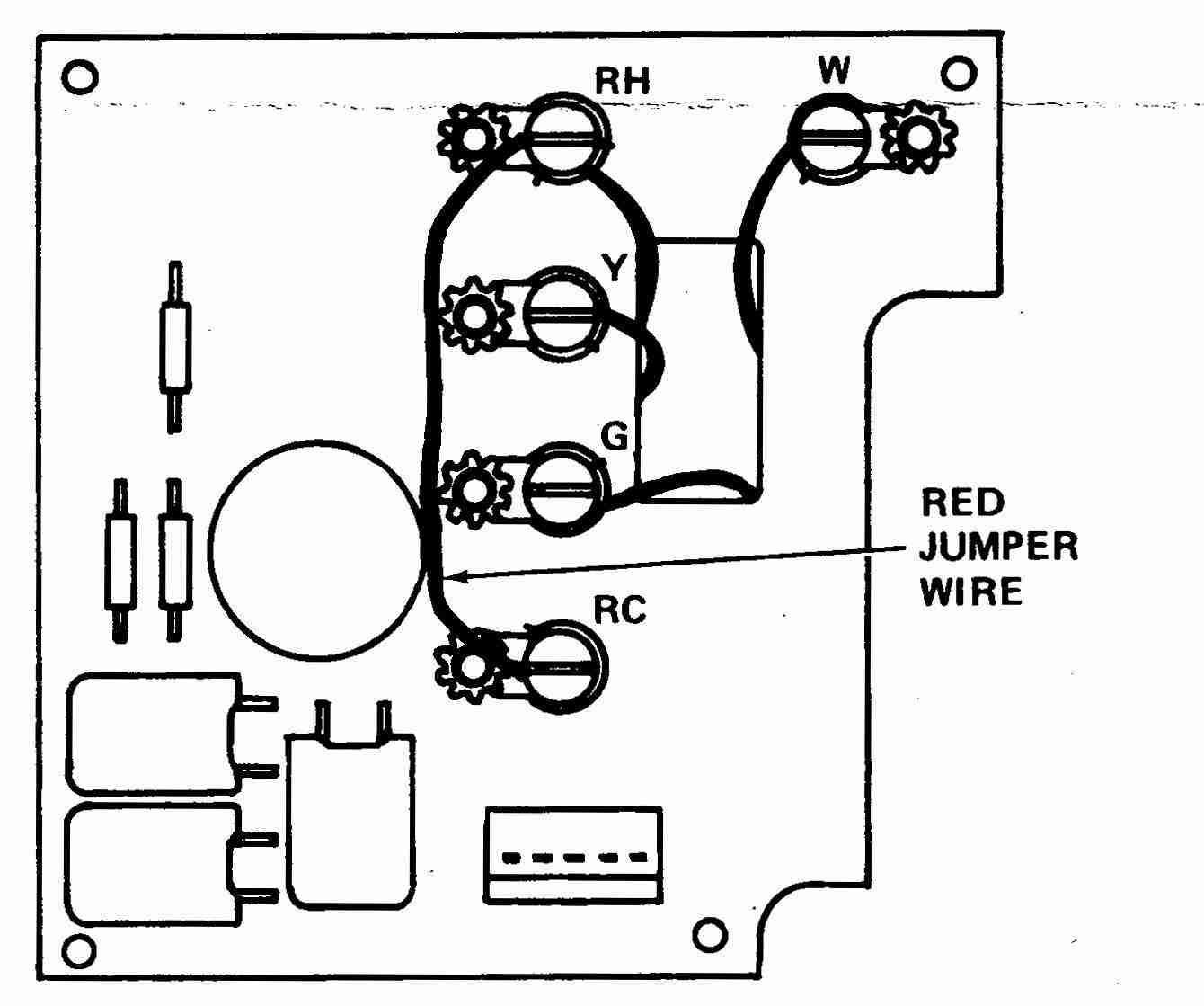 Room thermostat wiring diagrams for HVAC systems