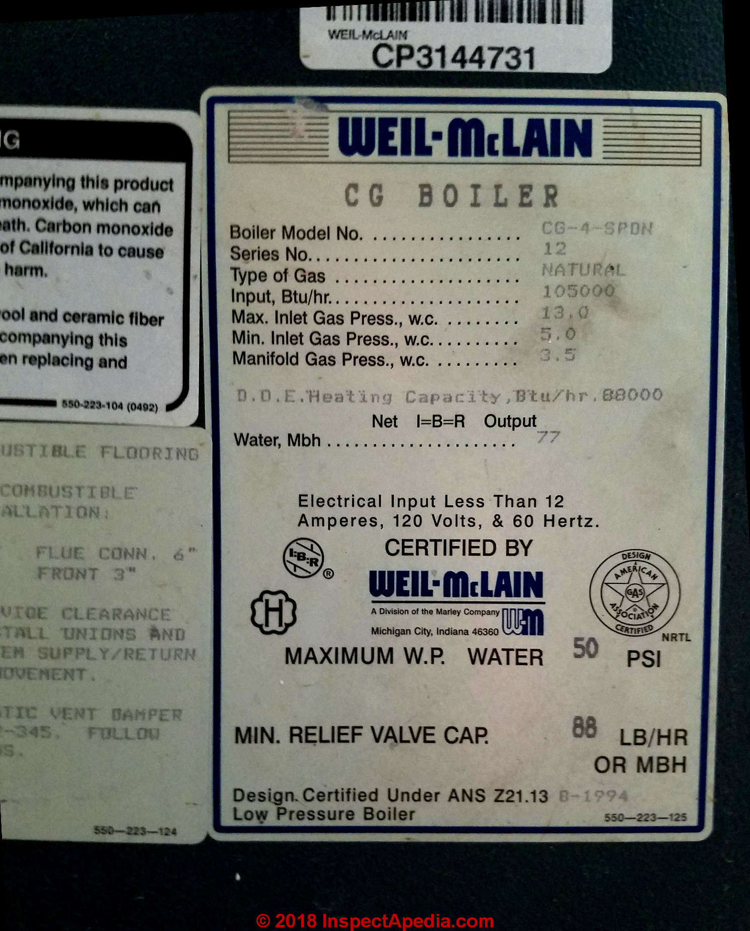 hight resolution of data tag from a weil mclain gas boiler in two harbors mn c daniel