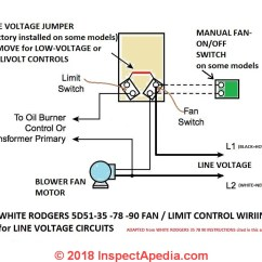 Limit Switch Wiring Diagram Dp How To Install Wire The Fan Controls On Furnaces Honeywell White Rodgers Control 5d Series 1 At Inspectapedia Com