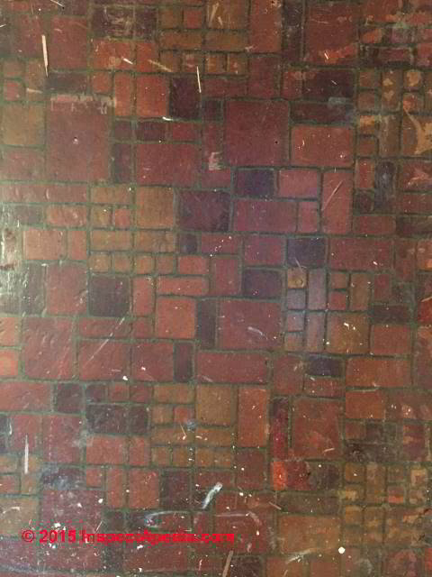 Asbestos content of brick pattern sheet flooring Armstrong