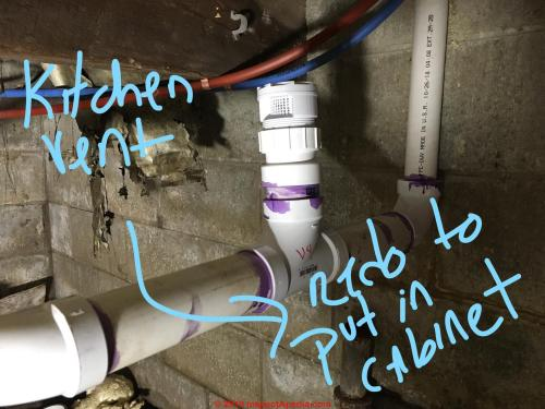 small resolution of air admittance valve inline vent in crawl areas must be moved up to below the kitchen