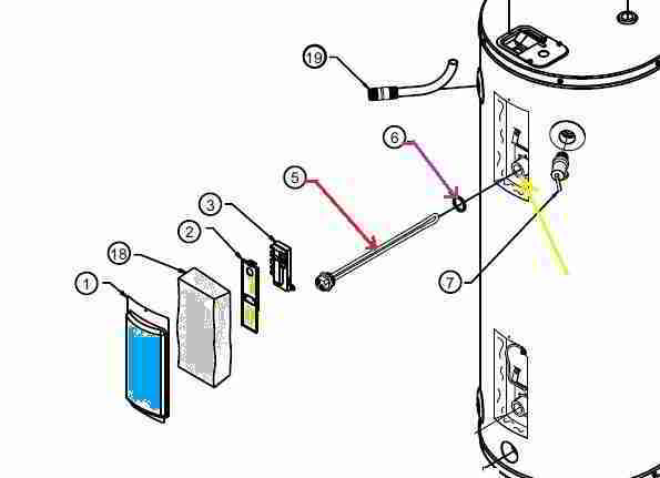 hot water tank wiring diagram msd ignition ford rheem electric heater heating element replacement procedure how toelectric terminals