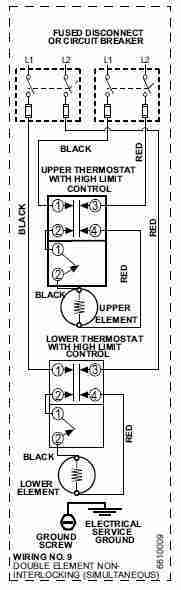 electric hot water tank wiring diagram motor diagrams single phase heater heating element replacement procedure how to for american co example