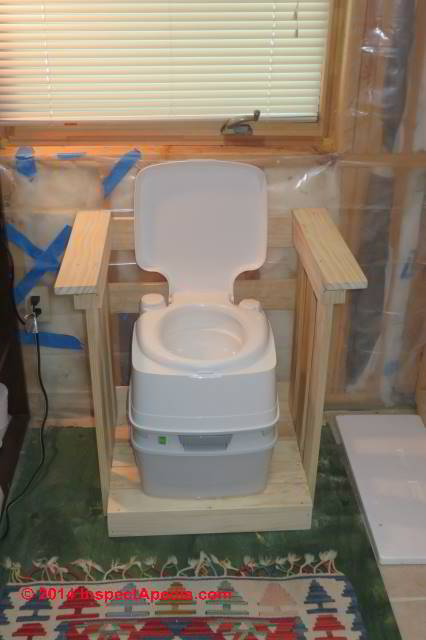 Chemical Waterless  Low Water Toilets for Elderly or