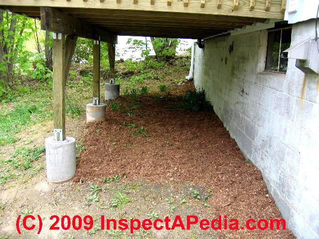 How To Prepare Concrete Deck Piers Amp Footings Construction