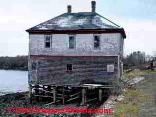 Pier construction, Northern Maine (C) D Friedman