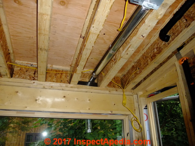 Bathroom Vent Fan Duct Down Route Cathedral Ceiing To Soffit