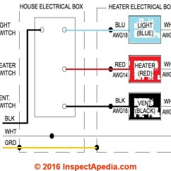 Wiring Diagram For Bathroom Fan And Light 1996 Ford Bronco Rear Window Guide To Installing Vent Fans Details A Heater Combination Adapted From Delta Breez Model Rad80l Installation Instrucations