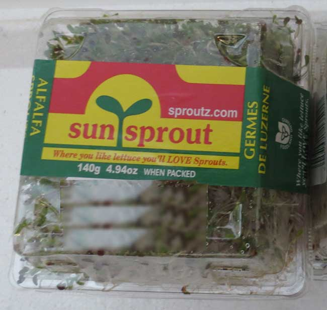 Sunsprout brand alfalfa sprouts