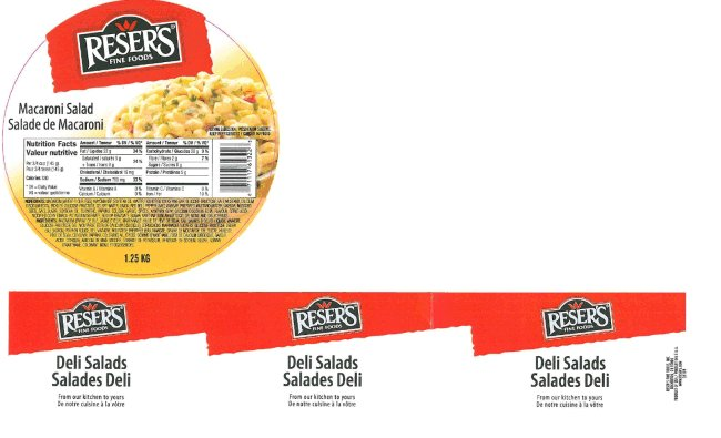 Reser's Fine Foods - Macaroni Salad - 1.25 kilogram