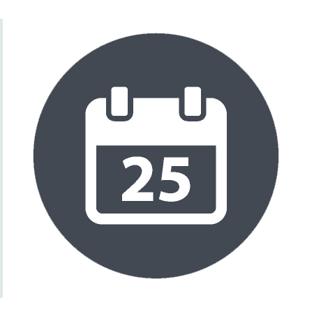 sewer scope inspection calendar icon