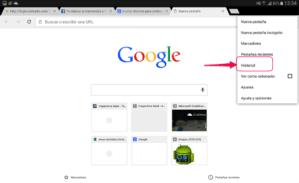 Chrome_borrar historial