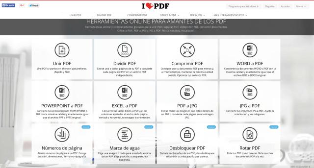 editar un PDF con ilovepdf
