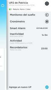 pulsera cuantificadora_app menu up2 Jawbone