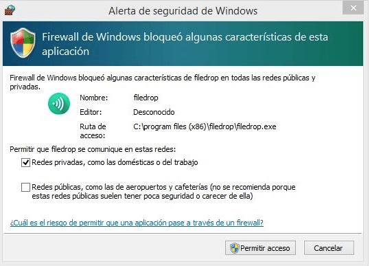 intercambiar archivos _pantallazo windows