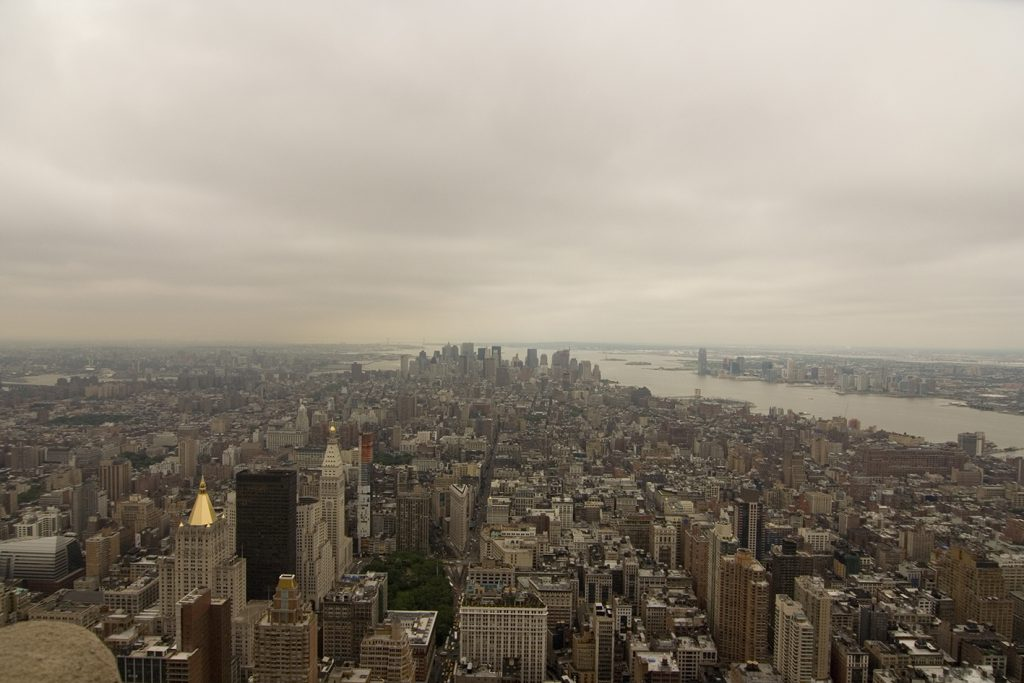 Empire State Building foggie view