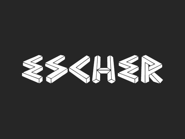 Escher font