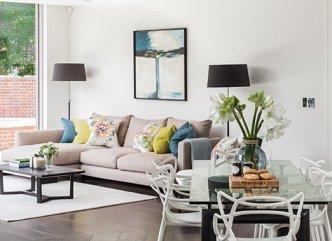 White Furniture Rental Set