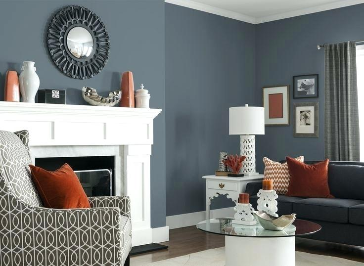 blue gray wall color inspiration