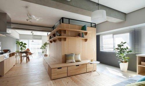 wood accent home design interior