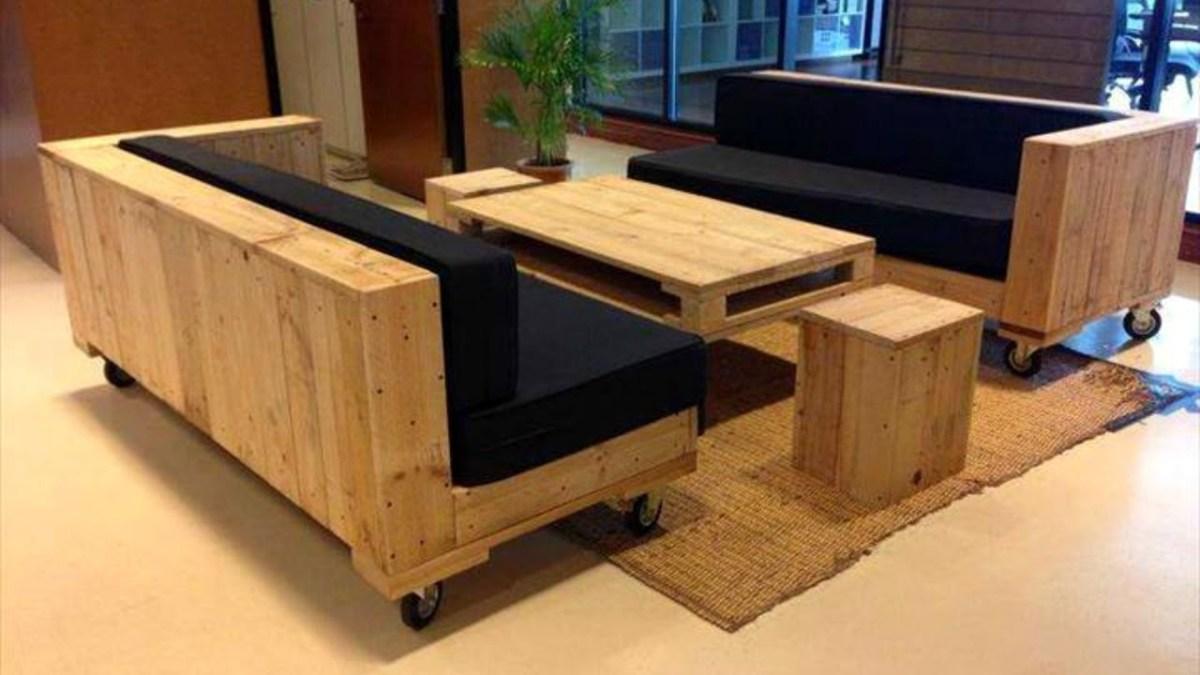 DIY Pallet Chair Sets Furniture