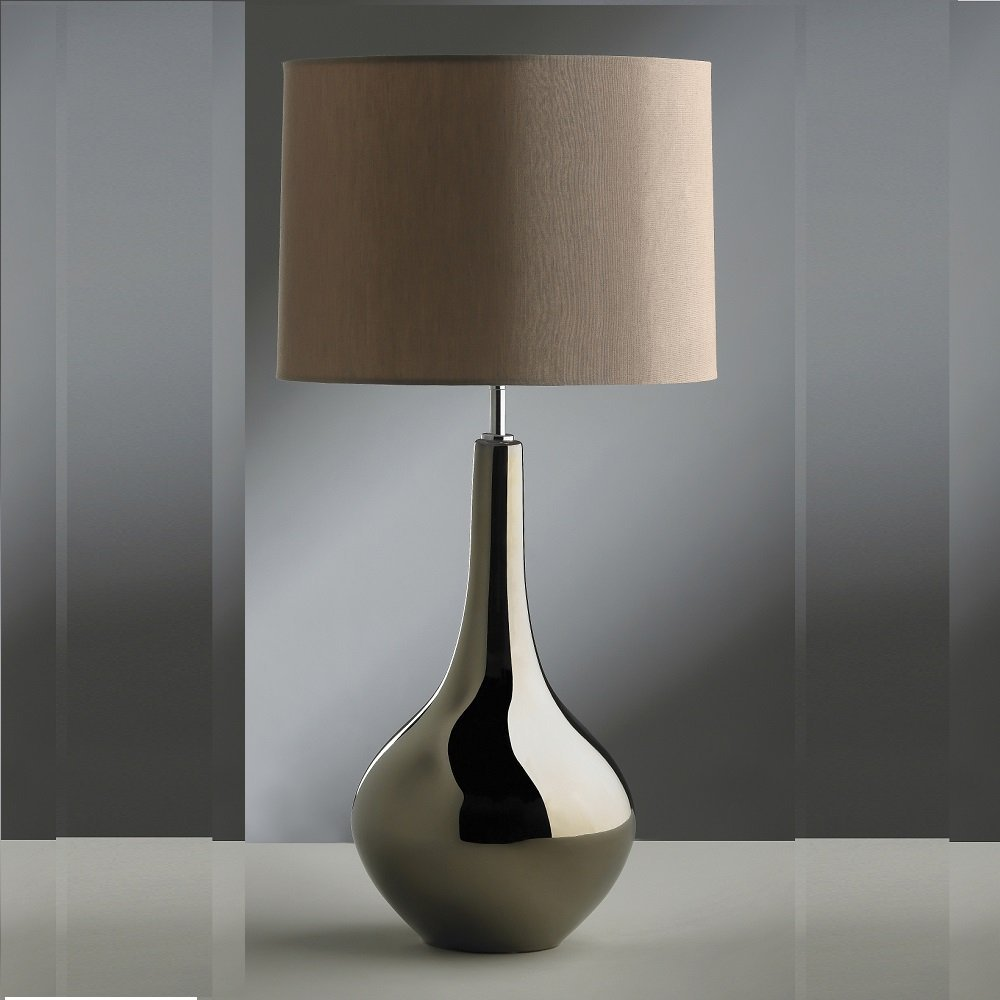 Elegant and metallic style lamp