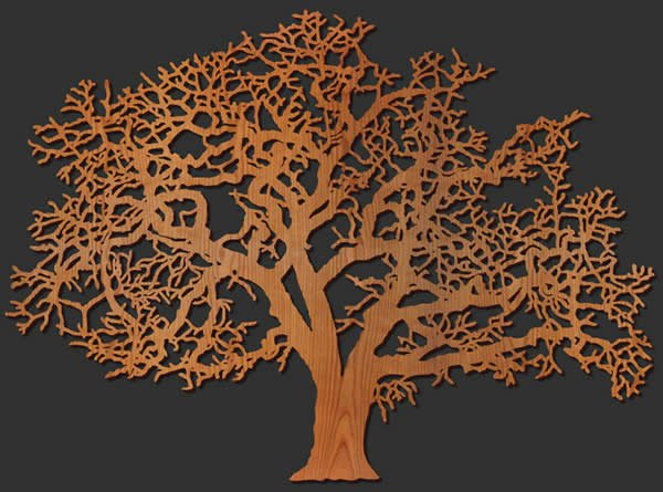 Oak Tree Wood Wall Decoration For Wall