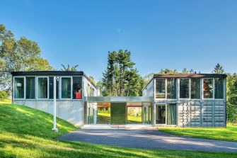 container house blend with nature