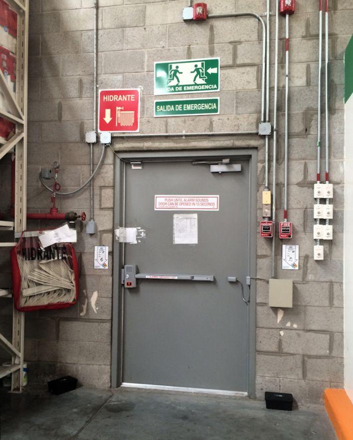 emergency door for basement