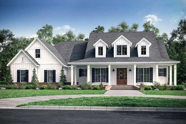 farmhouse plan as a traditional house