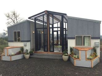 modern grey container house