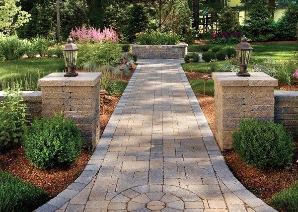 symmetry garden path design