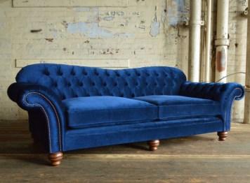Blue modern sofa design