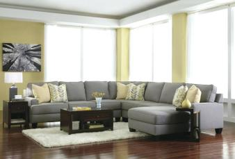 sofa grey and sofa bed with pillow