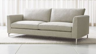 sofa grey with long seats and legs