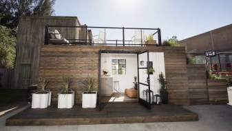 white interior container house