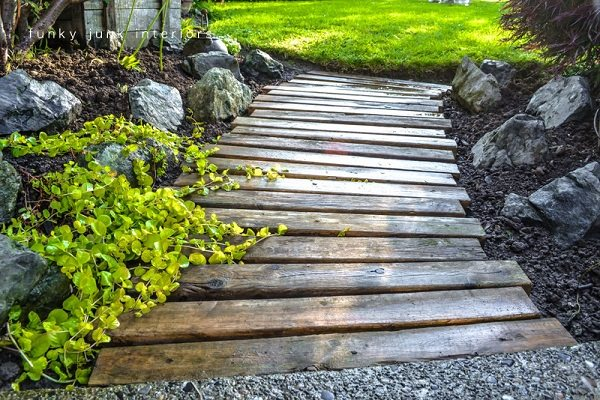 wooden garden path ideas
