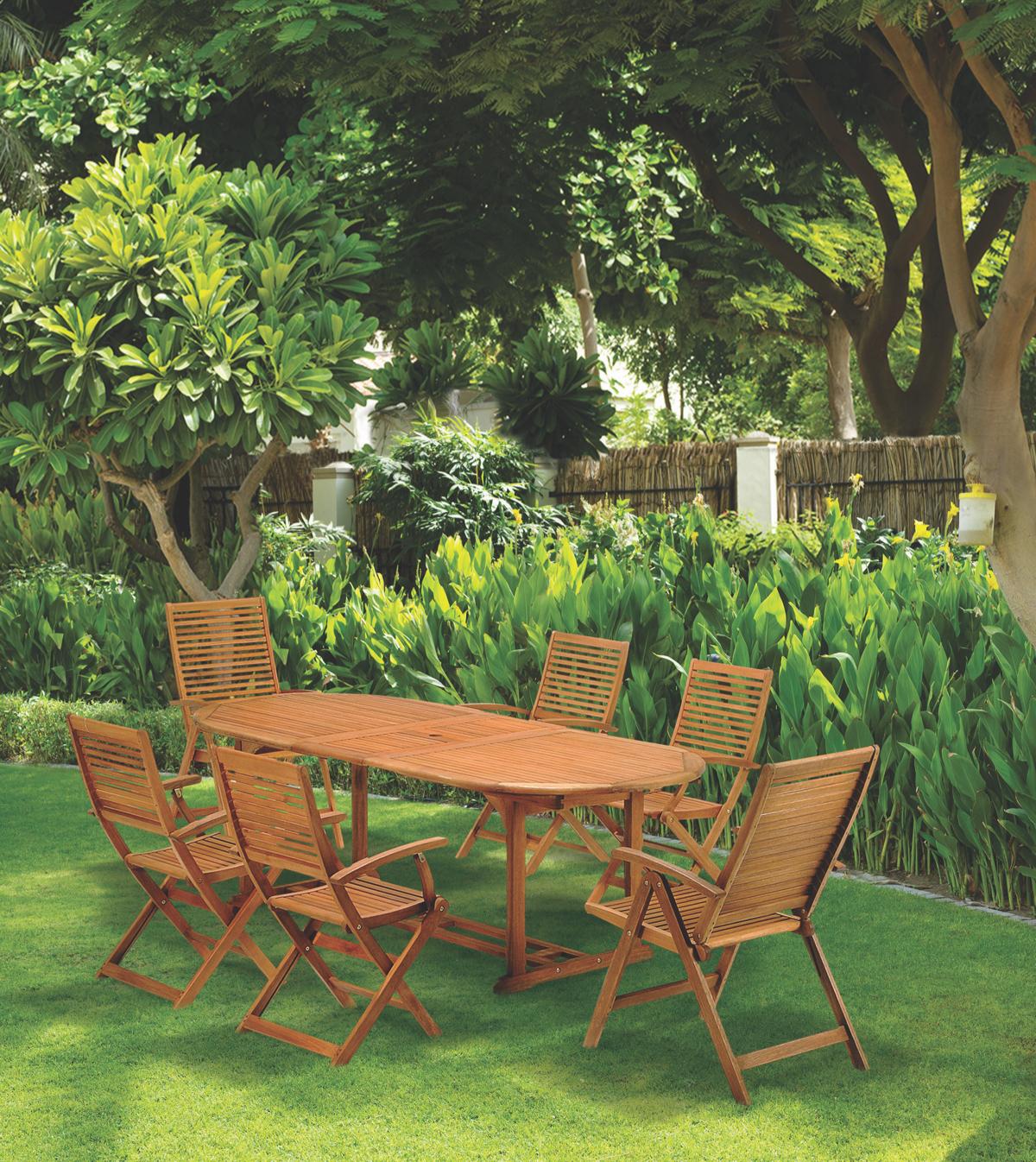 wooden outdoor garden sets
