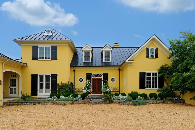 yellow wall color exterior paint