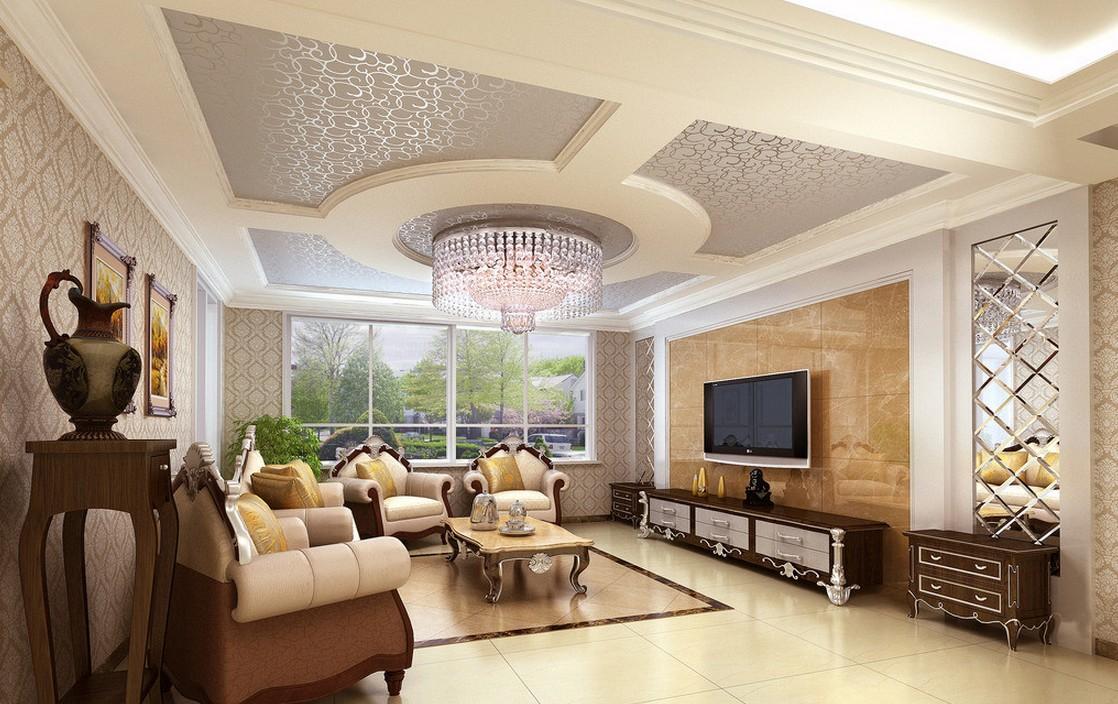 Living Room Derawing Upward Decoration
