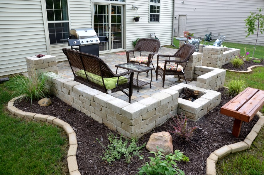 backyard paver patio outdoor ideas