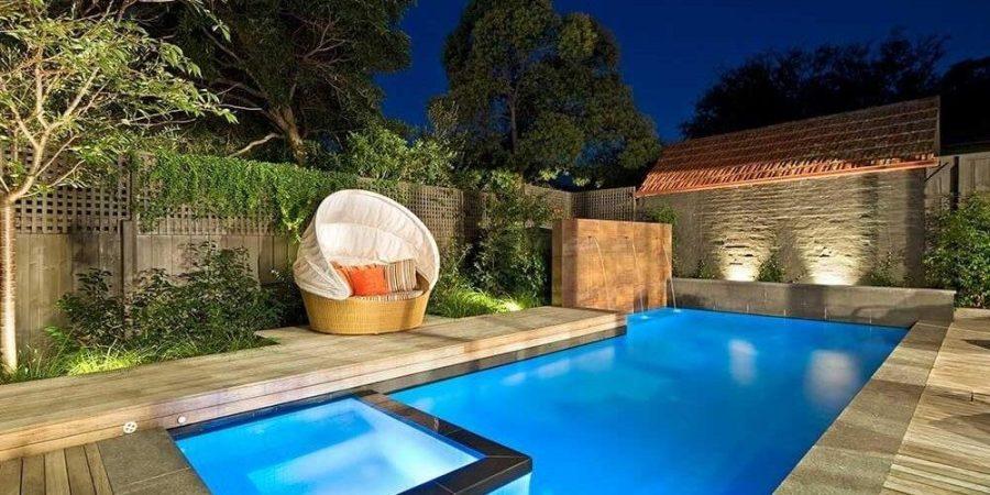 backyard pool pond