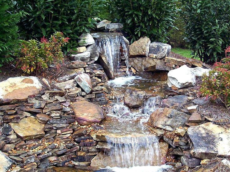 backyard waterfall small ponds