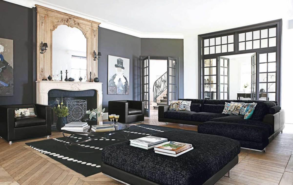 black domination family room